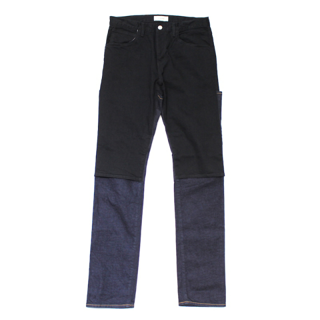 JIEDA OW 2WAY SLIM DENIM PANTS BLACK/INDIGO