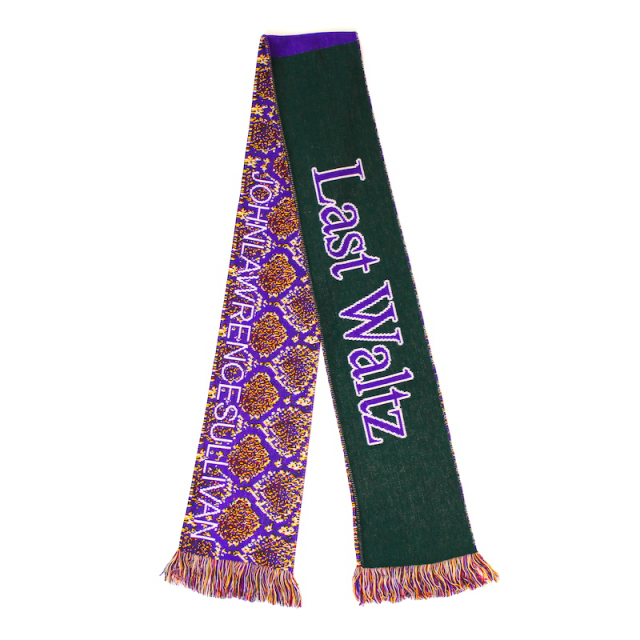 JOHNLAWRENCESULLIVAN JACQUARD SCARF PURPLE