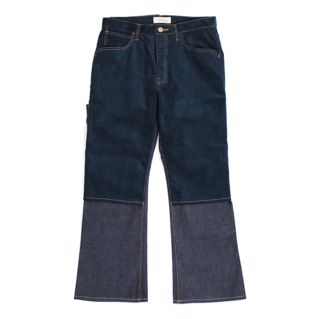 JIEDA SWITCHING 2WAY FLARE PANTS INDIGO