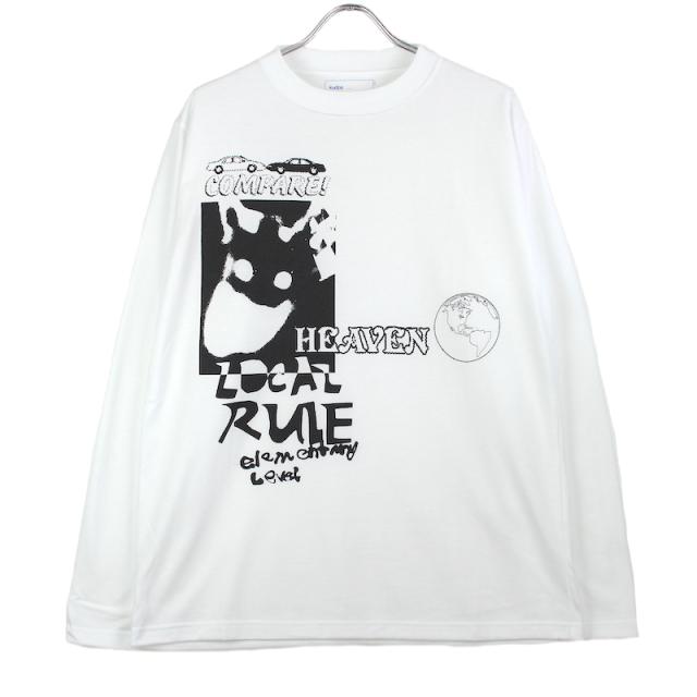 KUDOS HEAVEN LONG T-SHIRT WHITE