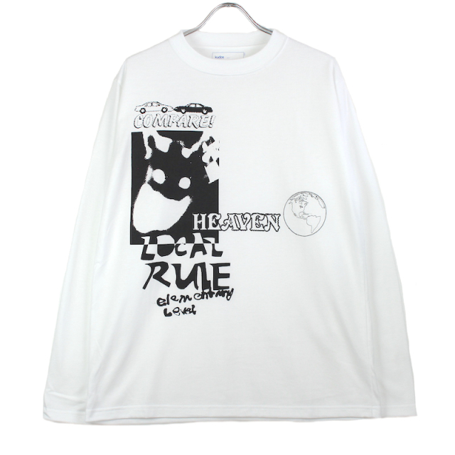 KUDOS HEAVEN LONG T-SHIRT WHITE
