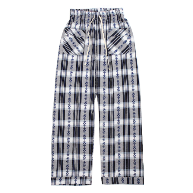 YSTRDY's TMRRW COTTON FLANNEL DREAMER EASY PANTS NAVY