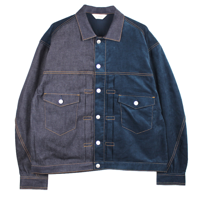 JIEDA SWITCHING DENIM JACKET