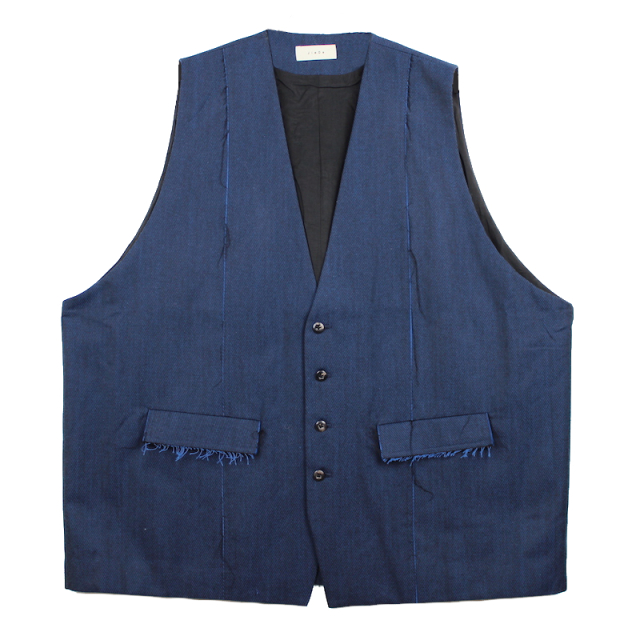 JIEDA GABARDINE OVER VEST BLUE