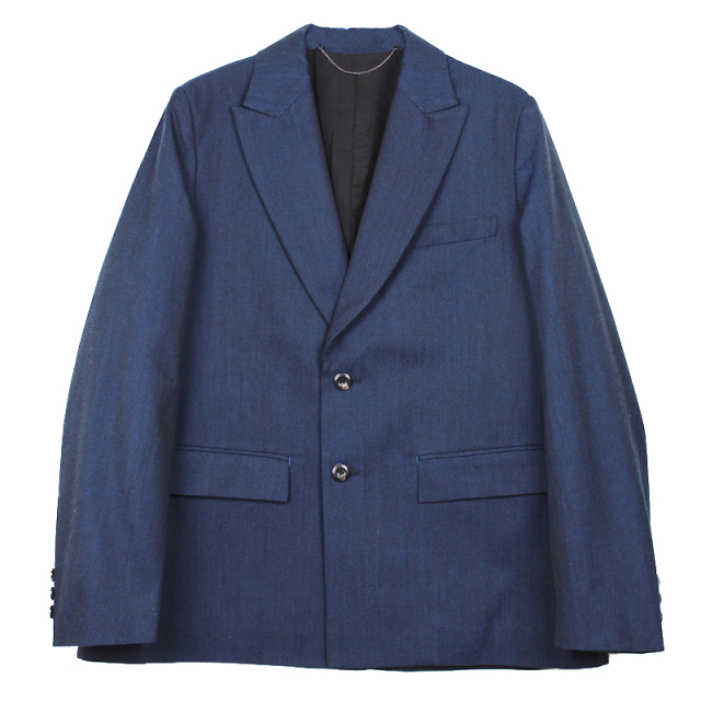 JIEDA GABARDINE TAILORED JACKET BLUE