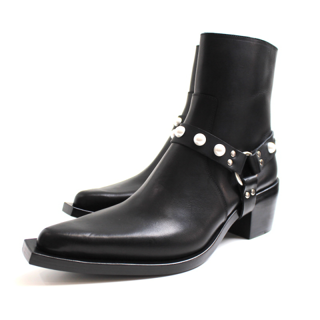 JOHNLAWRENCESULLIVAN POINTED TOE BOOTS BLACK