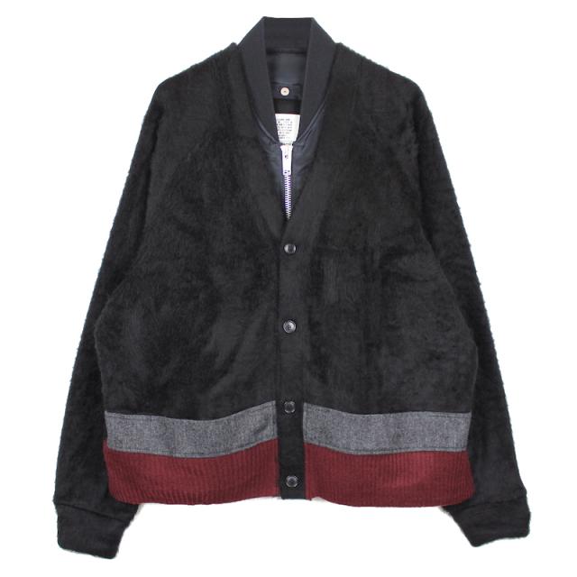 elephant TRIBAL fabrics MA-1 DOCKING CARDIGAN BLACK