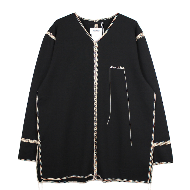 doublet BIG STITCH SWEAT SHIRT BLACK