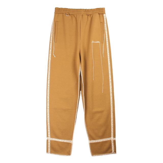 doublet BIG STITCH SWEAT PANTS CAMEL