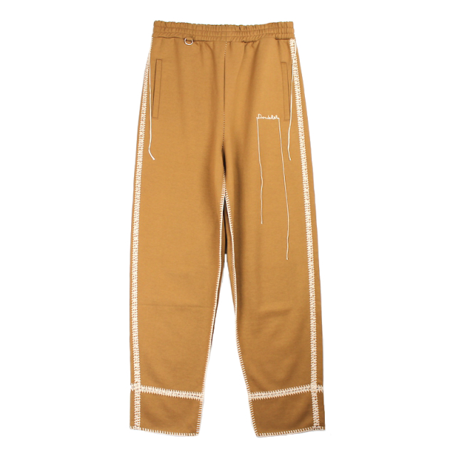 doublet BIG STITCH SWEAT PANTS CAMEL