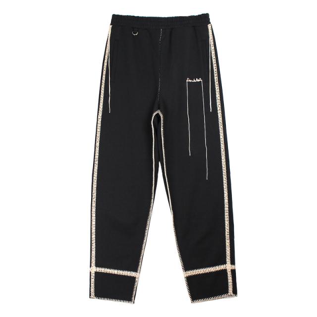doublet BIG STITCH SWEAT PANTS BLACK