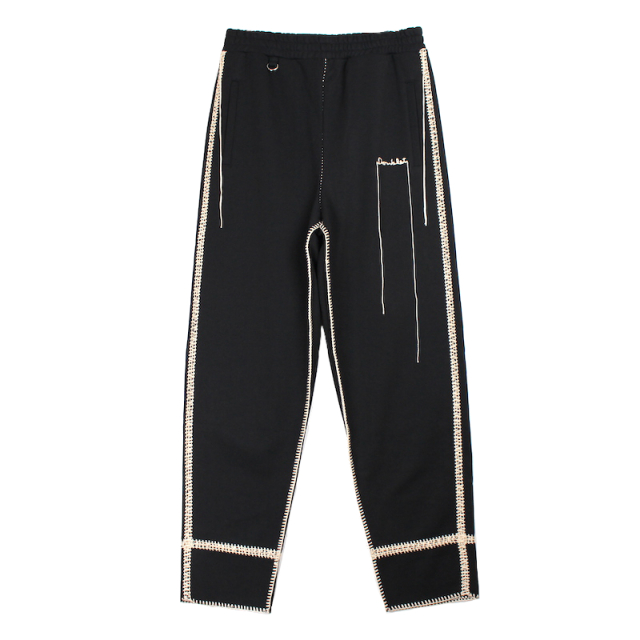 doublet BIG STITCH SWEAT PANTS BLACK