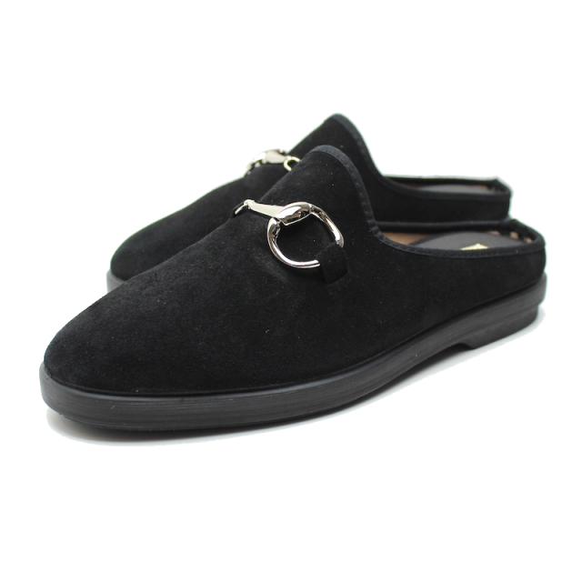 YSTRDY's TMRRW BIG HORSE BIT SLIPPER BLACK 2020AW