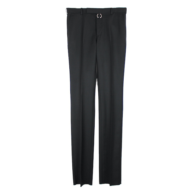 JOHNLAWRENCESULLIVAN STRAIGHT TROUSERS WITH BODY PIERCING JEWELRY BLACK
