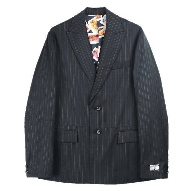 JIEDA CUT OFF TAILORED JACKET BLACK
