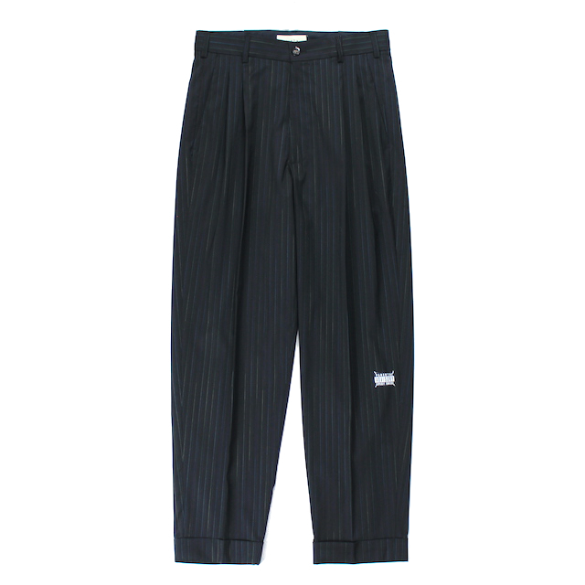 JIEDA 2TUCK TAPERED PANTS BLACK