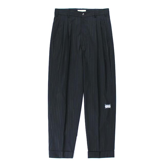 JIEDA 2TUCK TAPERED PANTS BLACK