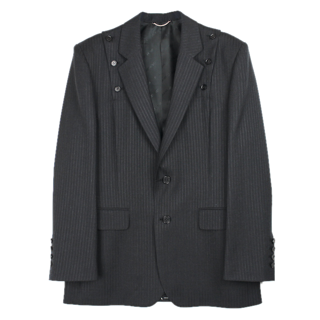 JOHNLAWRENCESULLIVAN 2B SHOULDER BUTTON JACKET CHARCOAL