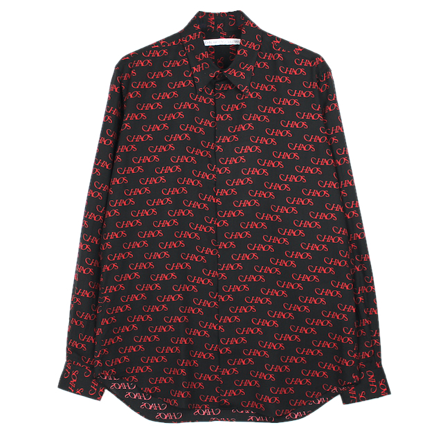 "JOHNLAWRENCESULLIVAN ""CHAOS"" REGULAR COLLAR SHIRT BLACK"