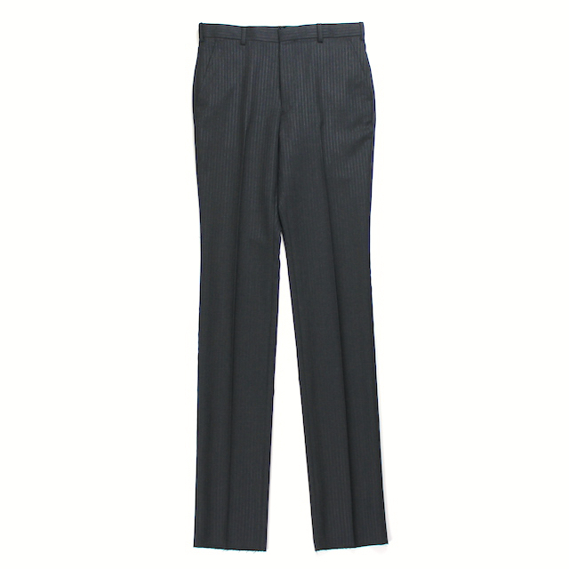 JOHNLAWRENCESULLIVAN TAPERED TROUSERS CHARCOAL