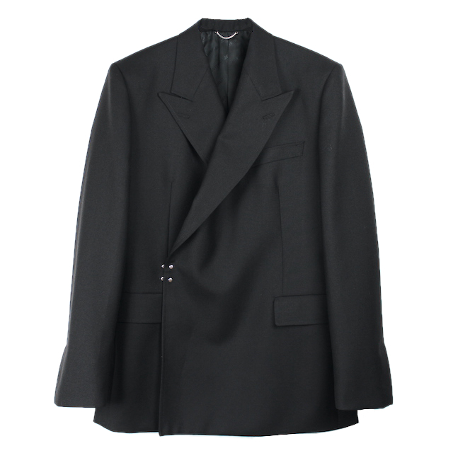 JOHNLAWRENCESULLIVAN DOUBLE BREASTED HOOK JACKET BLACK
