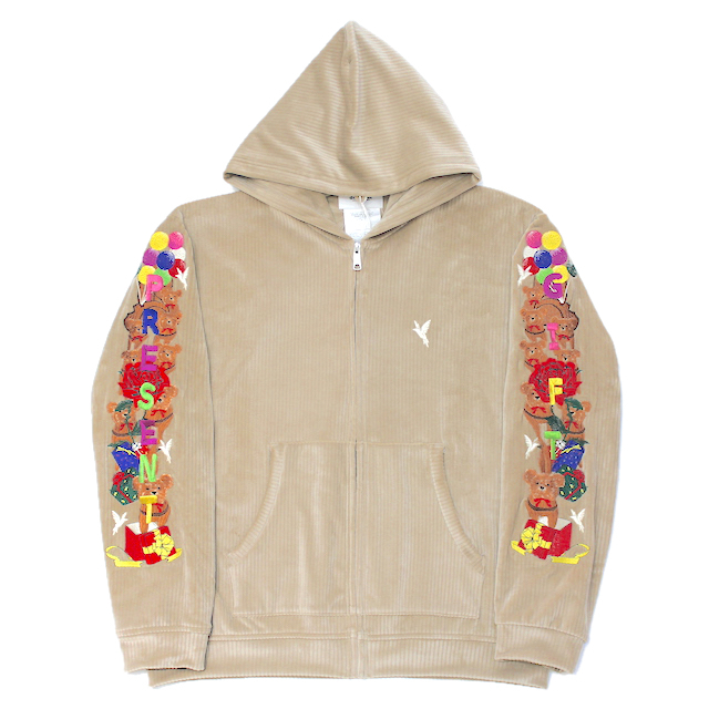 doublet CHAOS EMBROIDERY COMFY HOODIE BEIGE