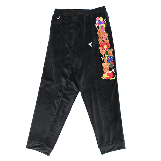 doublet CHAOS EMBROIDERY COMFY PANTS BLACK