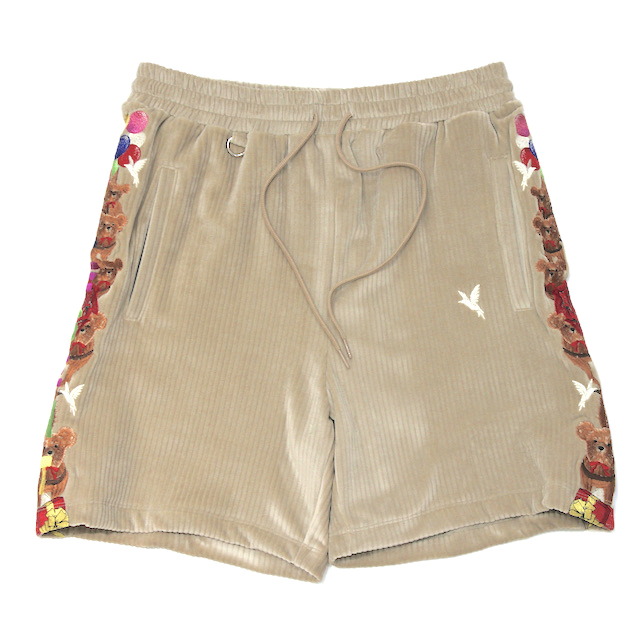 doublet CHAOS EMBROIDERY COMFY SHORT PANTS BEIGE