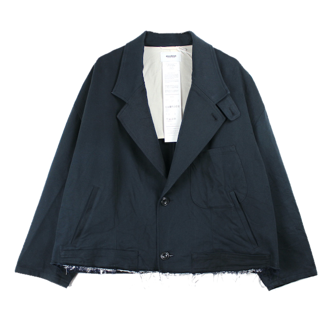 doublet SILK CHINO CUT-OFF JACKET D.NAVY