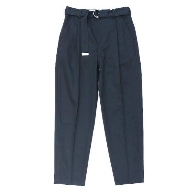doublet SILK CHINO WIDE TAPERED TROUSERS D.NAVY