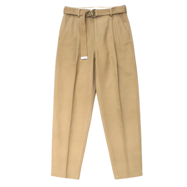 doublet SILK CHINO WIDE TAPERED TROUSERS BEIGE