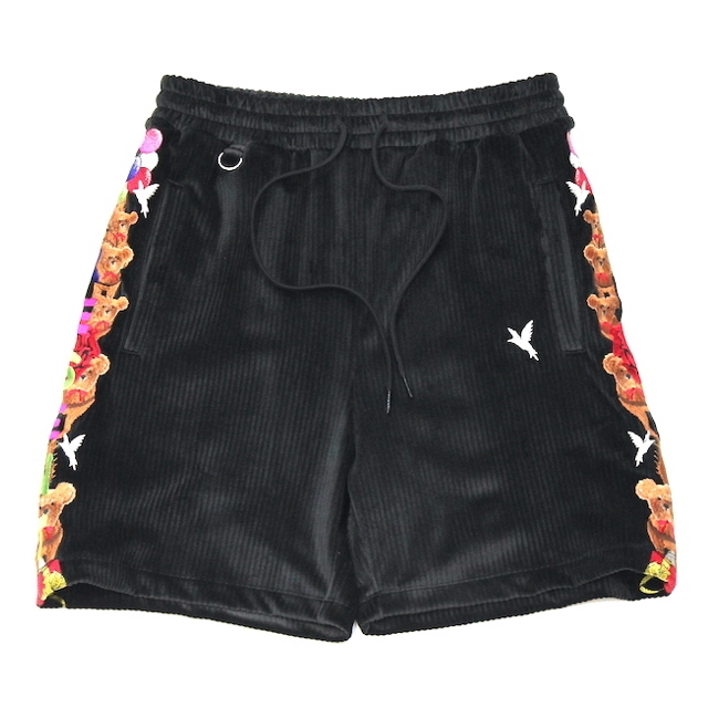 doublet CHAOS EMBROIDERY COMFY SHORT PANTS BLACK