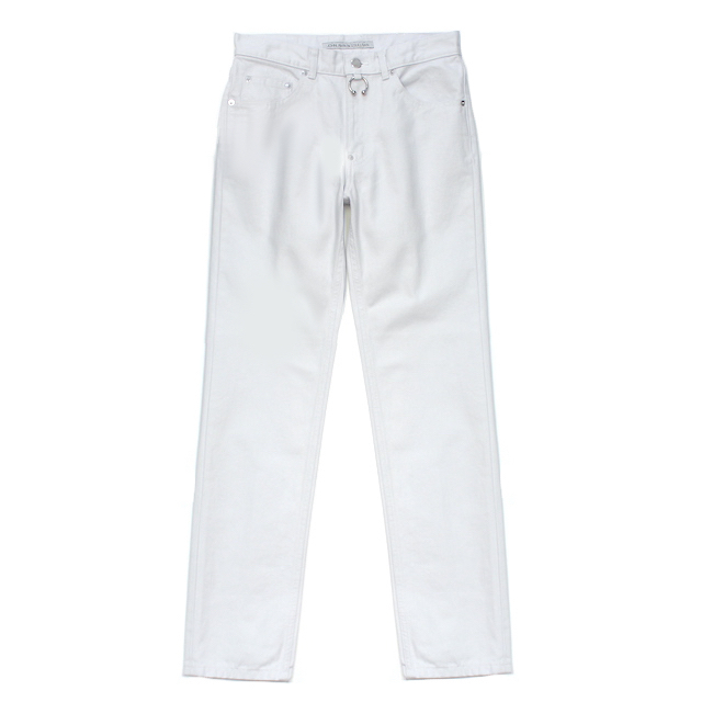 JOHNLAWRENCESULLIVAN 5POCKET JEANS WITH BODY PIERCING JEWELRY WHITE