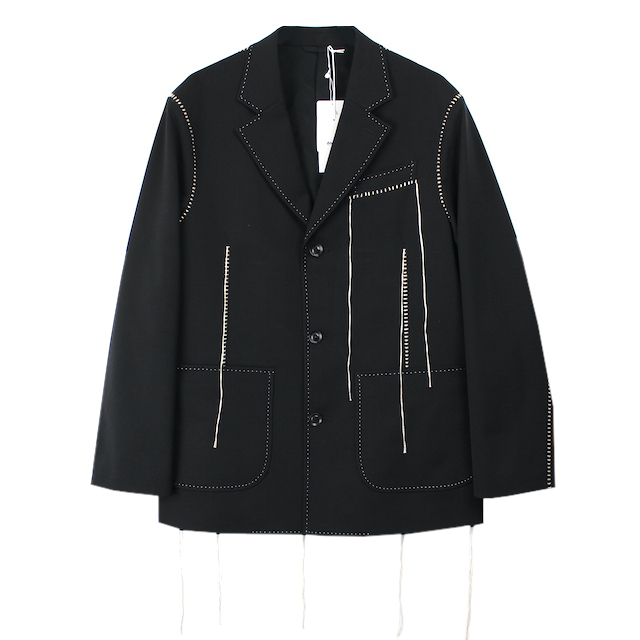 doublet BIG STITCH TAILORED JACKET BLACK