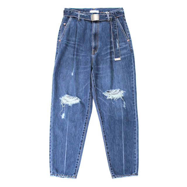 doublet DAMEGED SILK DENIM PANTS INDIGO
