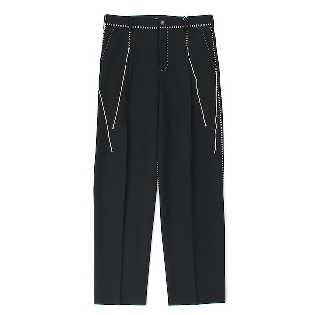doublet BIG STITCH TROUSERS BLACK
