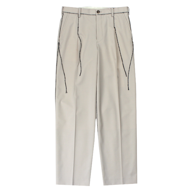 doublet BIG STITCH TROUSERS L.BEIGE