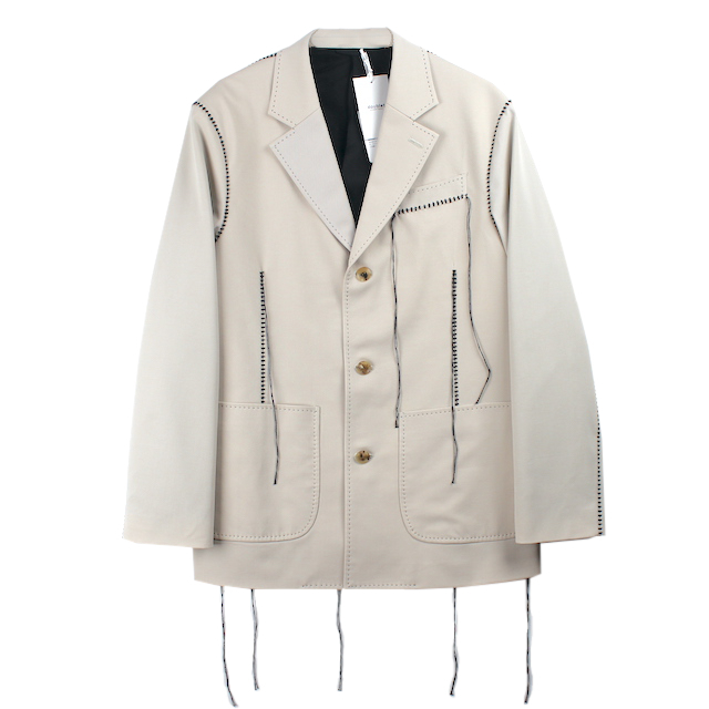 doublet BIG STITCH TAILORED JACKET L.BEIGE