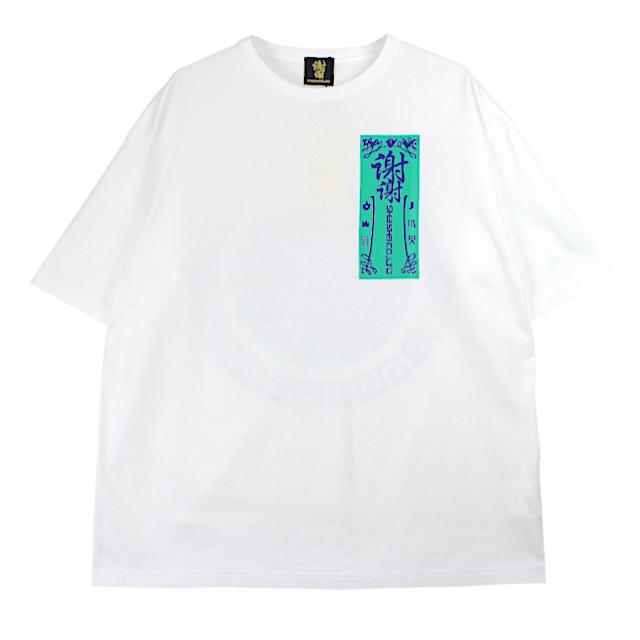 SHEI SHEI CO.LTD SHEI SHEI CIRCLE BIG TEE WHITE/GREEN
