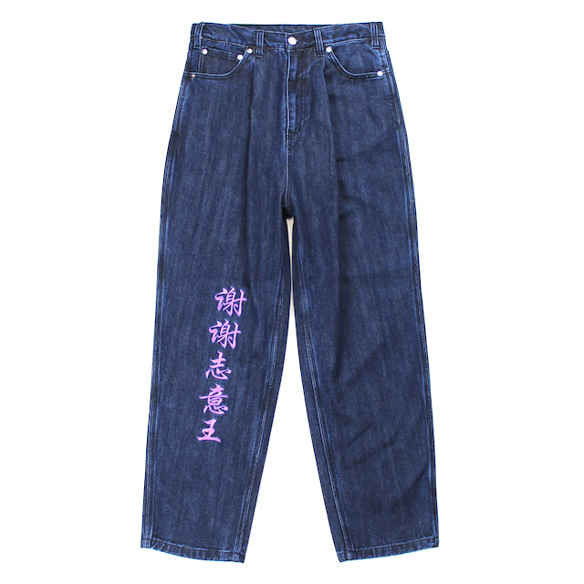 SHEI SHEI CO.LTD × BAD BOY BAGGY DENIM INDIGO