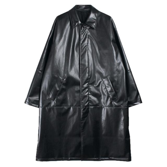 EPHEMERAL SYNTHETIC LEATHER COAT BLACK