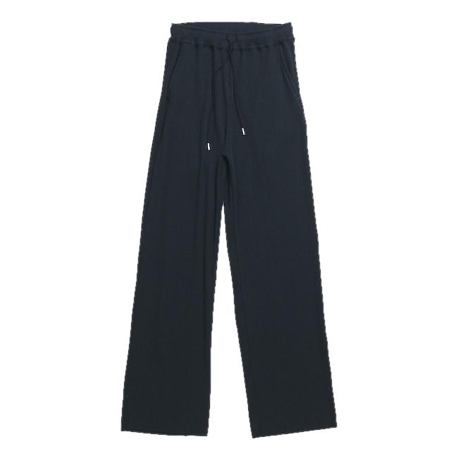 EPHEMERAL RIB PANTS BLACK