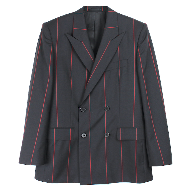 LITTLEBIG STRIPE DOUBLE BREASTED JACKET BLACK