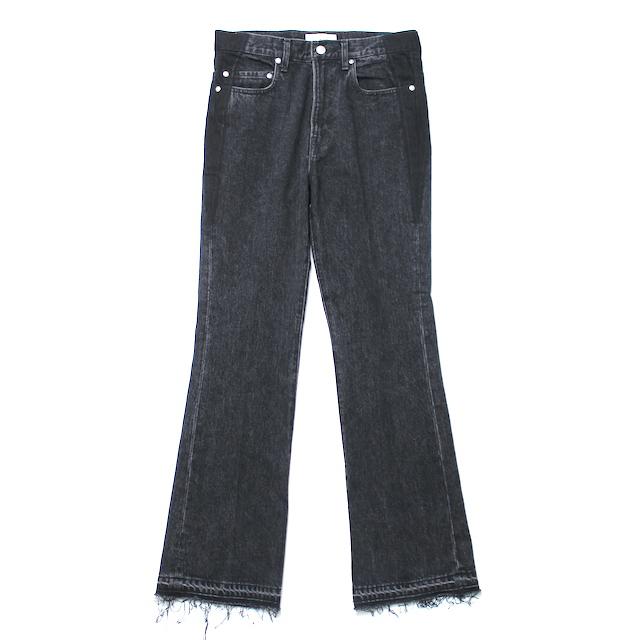 JIEDA USED FLARE DENIM PANTS A BLACK