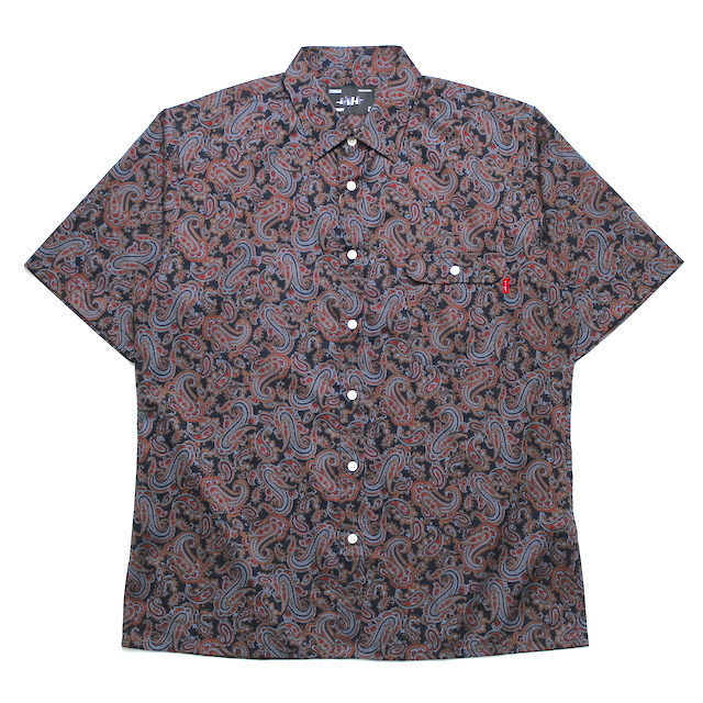 WHIMSY PAISELY SHIRT NAVY