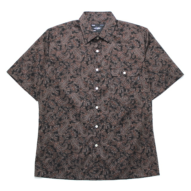 WHIMSY PAISELY SHIRT BLACK