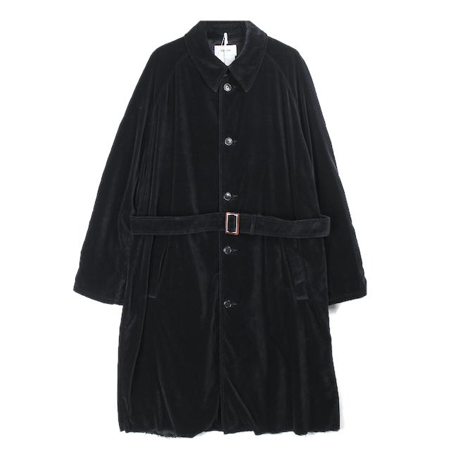 doublet CUT OFF VELVET COAT BLACK
