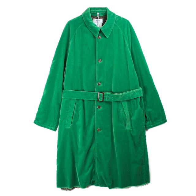 doublet CUT OFF VELVET COAT GREEN