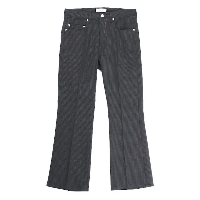 JIEDA STRIPE FLARE PANTS BLACK STRIPE