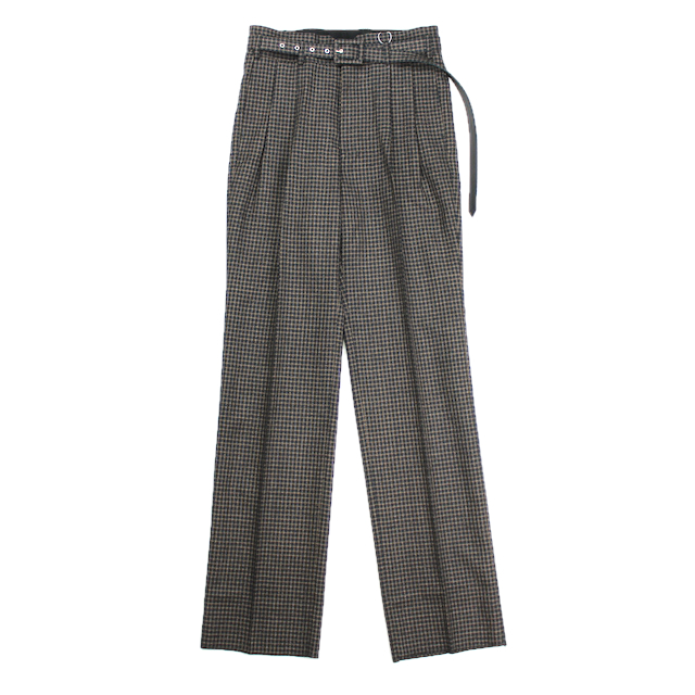 LITTLEBIG TUCKED WIDE TROUSERS NAVY